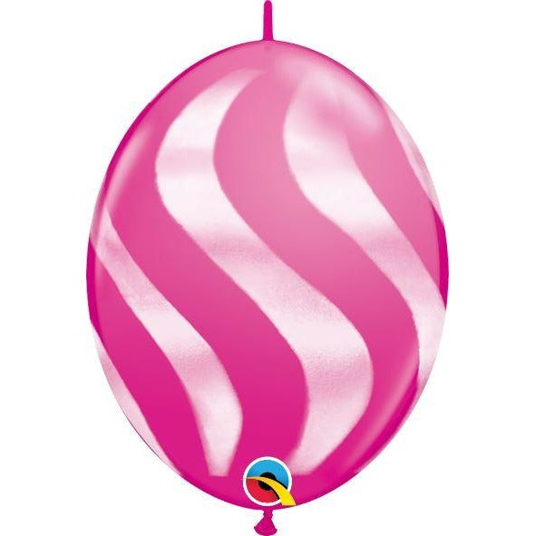 "12"" QLINK WILD BERRY      50CT WAVY STRIPES/WHT"