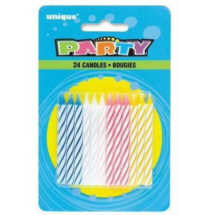 24 Spiral Birthday Candle-Multi