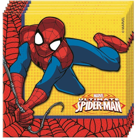 NAPKINS PAPER TWO-PLY 20CT,  ULTIMATE SPIDER-MAN