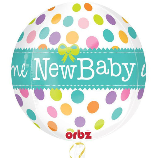 "New Baby Foil Helium Balloon Welcome New Baby Shower 17"" Unisex boy Girl Orbz"