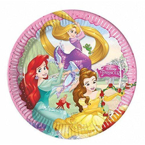 PLATES PAPER LARGE 23CM 8CT,  DISNEY PRINCESS