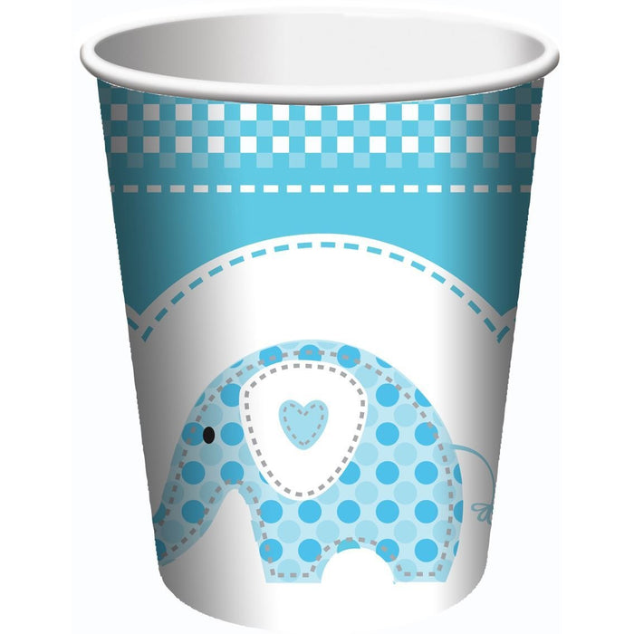 Sweet Baby Elephants Blue Cup