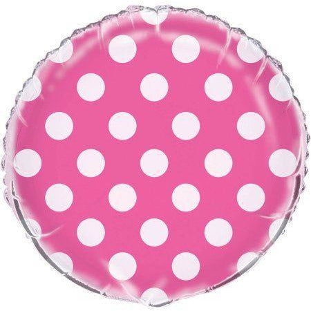 Lovely Pink Dots Foil Balloon 18""