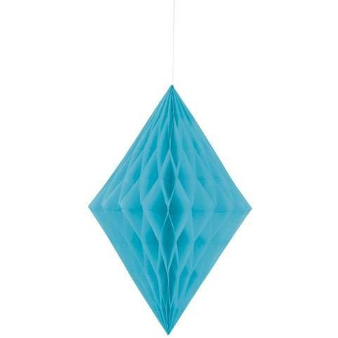 BLUE DIAMOND HONEYCOMB HANGING DECORATION
