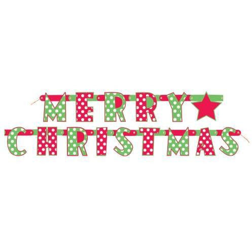 Merry Christmas Dots Jointed Banner