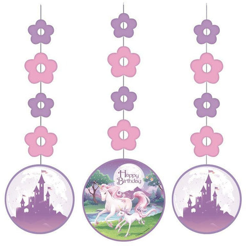 Unicorn Fantasy Hanging Cutouts