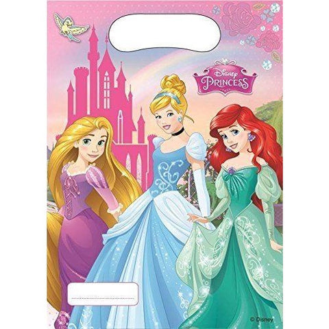 PARTY BAGS 6CT,  DISNEY PRINCESS