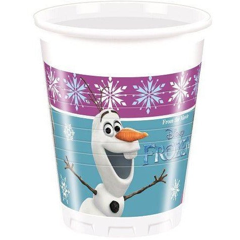 CUPS PLASTIC 200ML 8CT,  DISNEY FROZEN