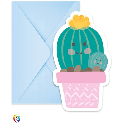 Cactus Party Invitations and Envelopes