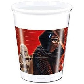 CUPS PLASTIC 200ML 8CT,  STAR WARS THE FORCE AWAKENS