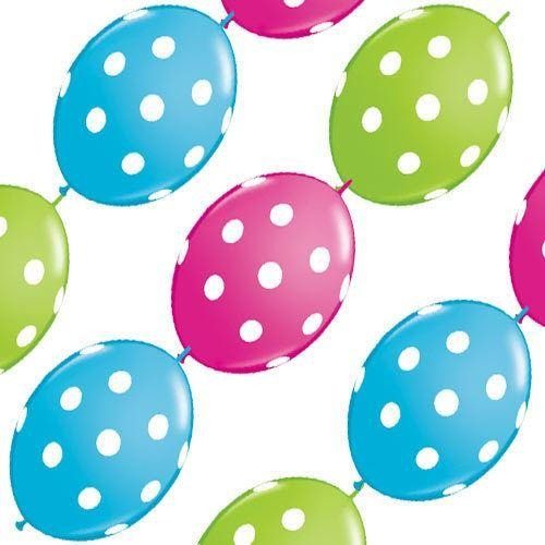 PARTY BANNER BLNS 10CT BIG POLKA DOTS