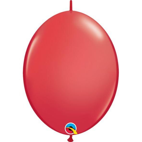"06"" QLINK RED             50CT,  QUALATEX QUICK LINK BALLOONS"