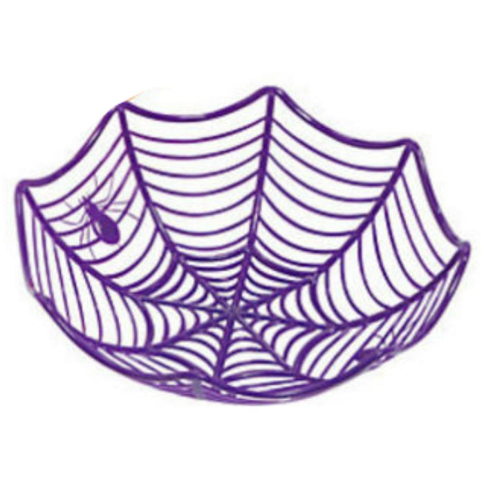 Purple Spiderweb Party Bowls (Halloween)