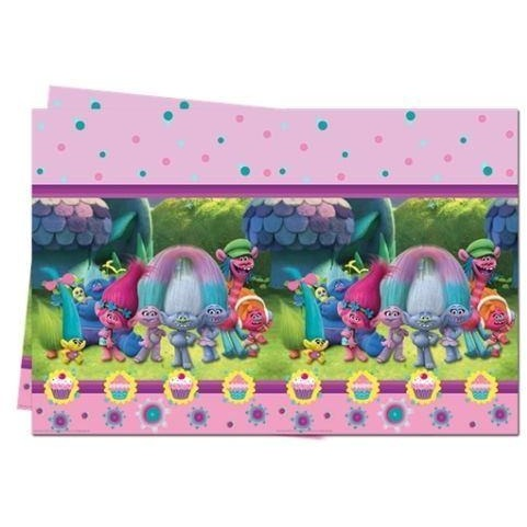 PARTY TABLE COVER 1CT,  TROLLS