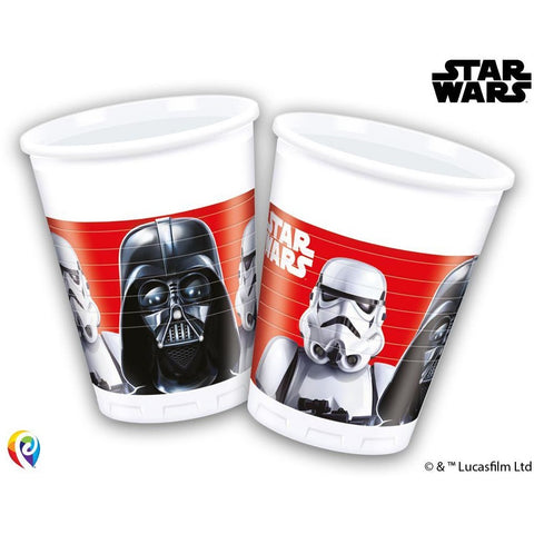 CUPS PLASTIC 200ML 8CT STAR WARS CLASSIC