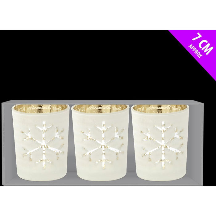 Davies snowflake candle holders