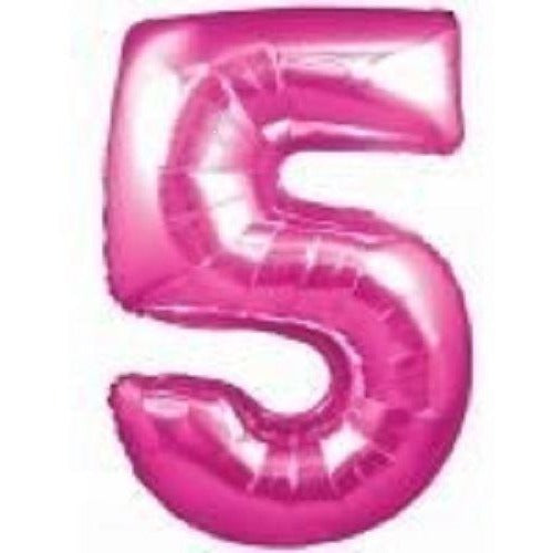 Pink Number Balloon 5 - Wholesale