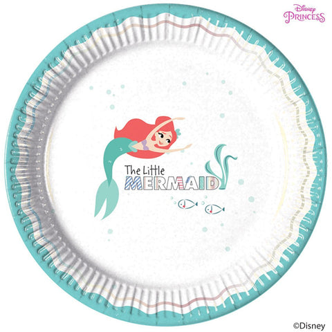 Disney Ariel Under the Sea Round Paper Plates 23cm 8ct