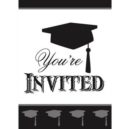 8 Simply Grad Invitations (Also Upstairs)
