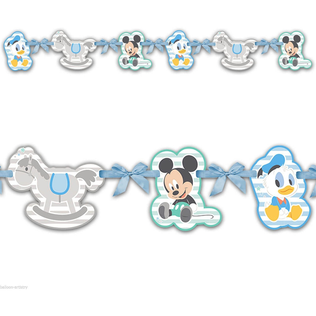 BANNER 1CT - SILHOUETTE,  INFANT MICKEY