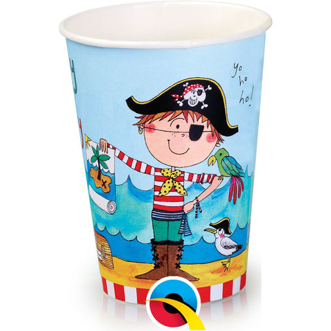 PARTY PAPER CUPS 8CT,  RE-PIRATE CUPS