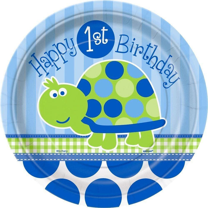 First Baby Boy Turtle Plates
