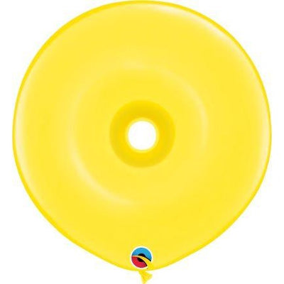 "16""  DNT  YELLOW          25CT QUALATEX PLAIN LATEX DONUT"