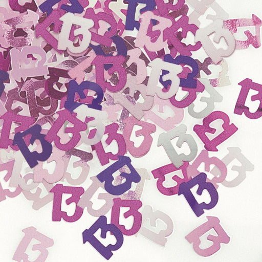 Pink Glitz Confetti Age 13 (special price of 30p) (Also Upstairs)