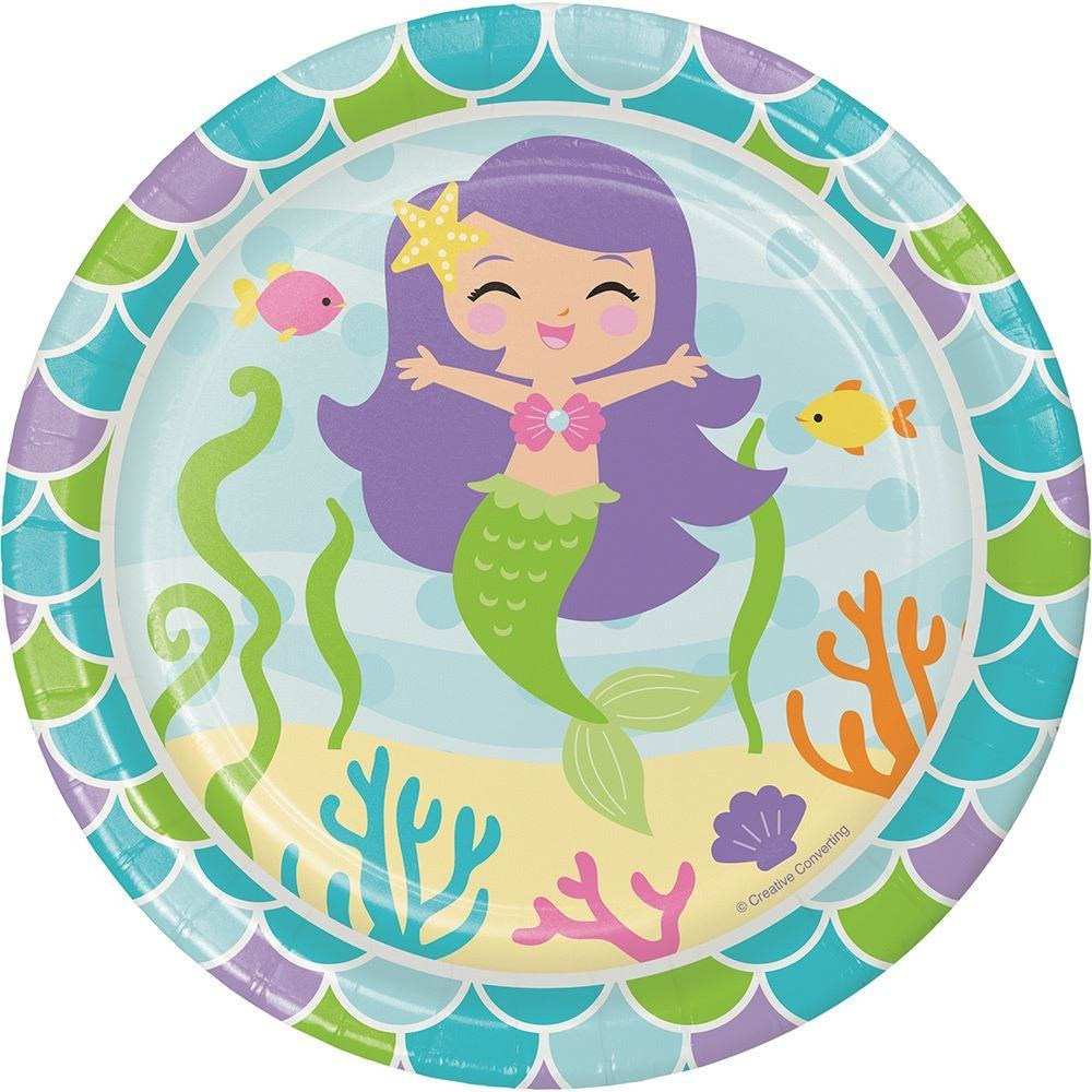 Mermaid Friends Small Lunch Plates Sturdy Style