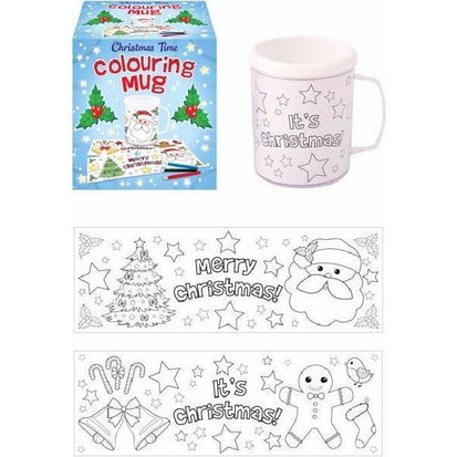Christmas time colouring mug