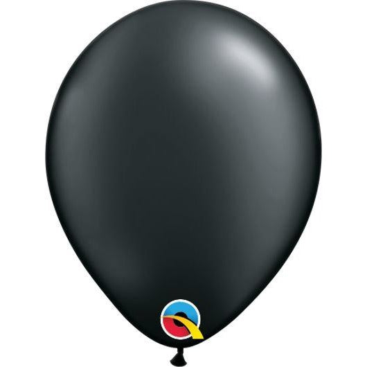"05""  RND  PRL ONYX BLK   100CT QUALATEX PLAIN LATEX"