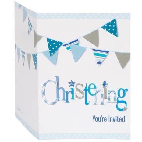 Unique boy christening invitations