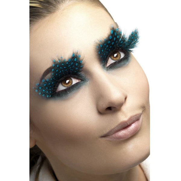 Smiffys Large Feather Aqua Dots Eyelashes