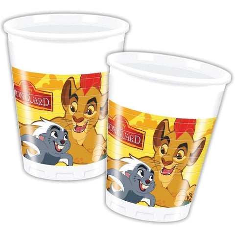 CUPS PLASTIC 200ML 8CT,  LION GUARD