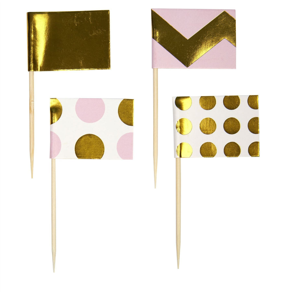 Pattern Works - Straw Flags Pink - 30 pack