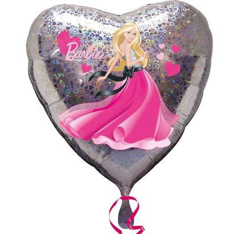 "18"" Heart Barbie Balloon"