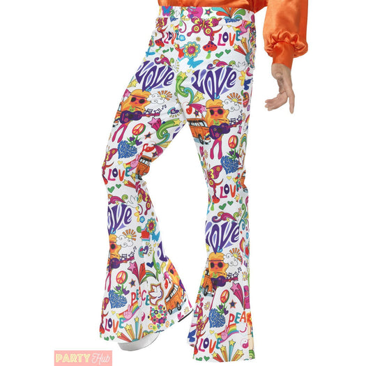 Smiffys 60's Groovy Flared Trousers Extra Large