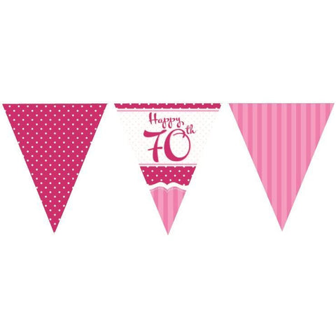 Perfectly Pink Bunting 70th