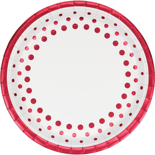 Foil Sparkle and Shine Ruby Wedding Anniversary Dinner Plates