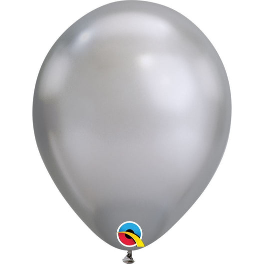 "11""  RND  CHROME SILVER  100CT QUALATEX PLAIN LATEX"