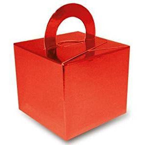 1 Cake Box Balloon Weights Metallic Red (Single Box, Open Pack)