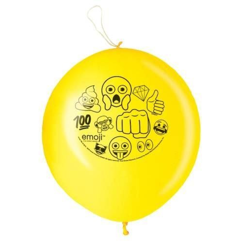 Emoji Punch Balloons, 2ct