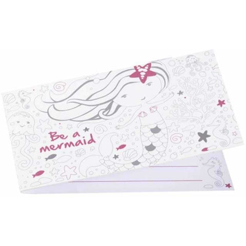 Be a Mermaid Stand-up Invitations