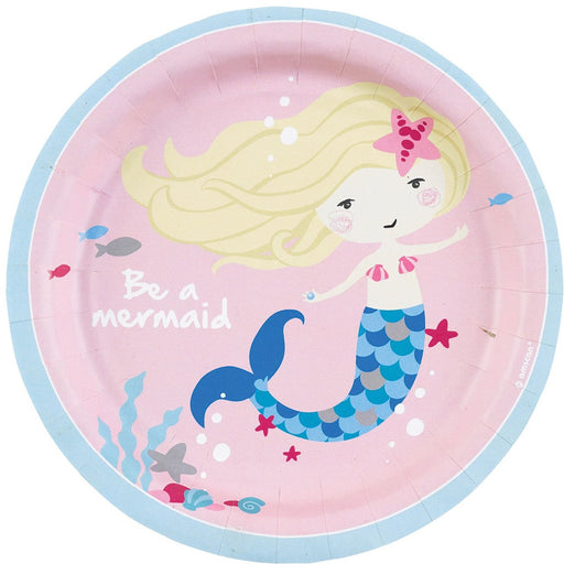 Be a Mermaid Paper Plates 18cm