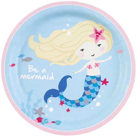 Be a Mermaid Paper Plates 23cm