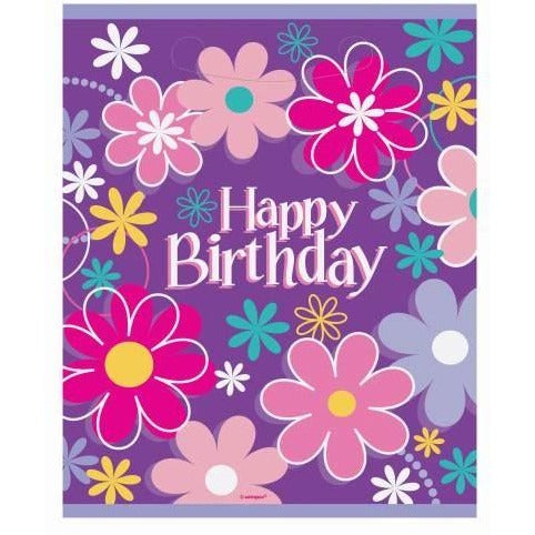 Birthday Blossoms Loot Bags, 8ct