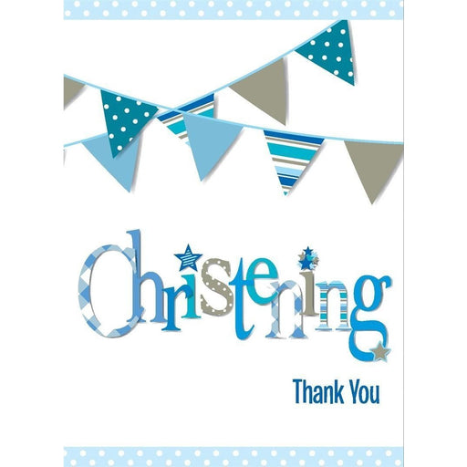 Unique boy christening thank you cards