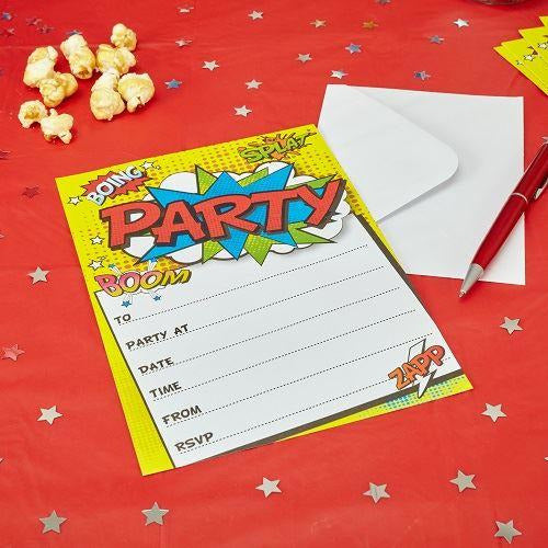 WOW Party Invitations
