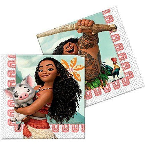 NAPKINS PAPER TWO-PLY 20CT,  MOANA