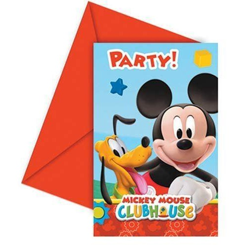 INVITATIONS & ENVELOPES 6CT PLAYFUL MICKEY